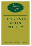 Studies in Latin Poetry - Christopher M. Dawson, Thomas Cole