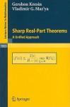 Sharp Real Part Theorems: A Unified Approach (Lecture Notes In Mathematics) - Gershon Kresin, Vladimir Maz'Ya, T. Shaposhnikova