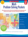 Math Problem-Solving Packets: Grade 1: Mini-Lessons for the Interactive Whiteboard With Reproducible Packets That Target and Teach Must-Know Math Skills - Carole E. Greenes, Carol Findell, Mary Cavanagh