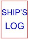 Large Ship's Log Book - John P. Kaufman