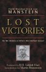 Lost Victories - Erich von Manstein, B.H. Liddell Hart, Martin Blumenson