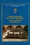 Corpus studiosorum Universitatis Iagellonicae in saeculis XVIII-XX tom 3 K-ł - Krzysztof Stopka, Mieczysław Barcik