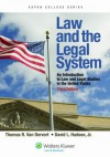 Law and the Legal System: An Introduction To Law American Law and Legal Studies in the United States (Aspen College) - Thomas R. Van Dervort, David L. Hudson Jr.