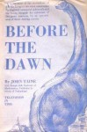 Before the Dawn - Eric Temple Bell, John Taine