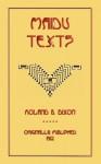 Maidu Texts - Roland B. Dixon