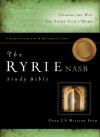 The Ryrie NAS Study Bible Genuine Leather Burgundy Red Letter Indexed - Charles C. Ryrie