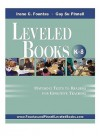 Leveled Books, K-8: Matching Texts to Readers for Effective Teaching - Irene C. Fountas, Gay Su Pinnell
