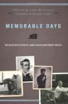 Memorable Days: The Selected Letters of James Salter and Robert Phelps - Robert Phelps Dirda, John McIntyre, Michael Dirda