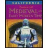 Medieval And Early Modern Times - California Edition - Diane Hart