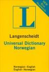 Langenscheidt Universal Dictionary Norwegian - Langenscheidt