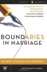 Boundaries in Marriage: Participant's Guide - Henry Cloud, John Townsend