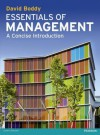 Essentials of Management: A Concise Introduction - David Boddy