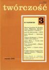 Twórczość, nr 3 (652) / 2000 - Jarosław Marek Rymkiewicz, Jacek Dobrowolski, Małgorzata Baranowska, Jan Lenica, Jacek Matecki, Redakcja miesięcznika Twórczość