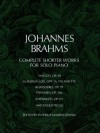 Complete Shorter Works for Solo Piano (Dover Music for Piano) - Johannes Brahms