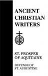 St. Prosper of Aquitaine, Defense of St. Augustine - T.C. Lawler