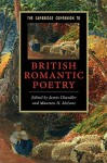 The Cambridge Companion to British Romantic Poetry - James Chandler