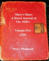 Mary's Diary (A Secret Journal of the 1930s - Volume Five - 1939) - Mary McIntosh