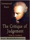 The Critique of Judgement - Immanuel Kant, John Miller Dow Meiklejohn