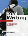 Real Writing with Readings: Paragraphs and Essays for College, Work, and Everyday Life - Susan Anker