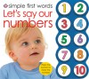 Simple First Words Let's Say Our Numbers - Roger Priddy