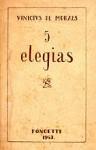 Cinco Elegias - Vinicius de Moraes