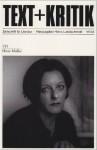 Text + Kritik . Zeitschrift für Literatur - Heft 155 Herta Müller - Heinz Ludwig Arnold