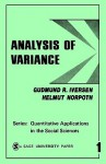 Analysis of Variance (Quantitative Applications in the Social Sciences) - Gudmund R. Iversen, Helmut Norpoth