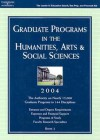 Graduate Programs In The Humanities, Arts & Social Sciences 2004 (Peterson's Graduate Programs In The Humanities, Arts & Social Sciences) - Petersons Publishing