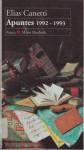 Apuntes 1992-1993 - Elias Canetti, Juan Jose Del Solar