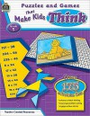 Puzzles and Games That Make Kids Think, Grade 5 - Garth Sundem