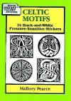 Celtic Motifs: 24 Black-and-White Pressure-Sensitive Stickers - Mallory Pearce