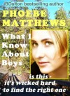 What I Know About Boys - McClure Jones, Phoebe Matthews