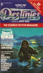 Destinies, The Paperback Magazine of science fiction and speculative Fact, Summer Ed. 1980 - Jim Baen, Spider Robinson, Robert A. Heinlein, J.E.Pournelle, Frederik Pohl, Norman Spinrad, The L-5 Society, Dean Ing, Charles Sheffield, Larry Niven, G.E.Coggshall