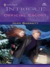 Official Escort (Harlequin Intrigue) - Jean Barrett