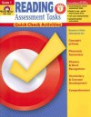 Reading Assessment Tasks: Grade 1: Quick Check Activities - Nancy Gist, Becky Dios