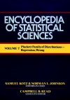 Plackett Family of Distribution to Regression, Wrong, Volume 7 , Encyclopedia of Statistical Sciences - Samuel Kotz