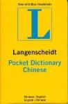 Langenscheidt's Pocket Dictionary Mandarin Chinese - Langenscheidt