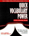 Quick Vocabulary Power: A Self-Teaching Guide (Wiley Self-Teaching Guides) - Jack S. Romine, Henry Ehrlich
