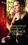 Marriage Terms (The Elliotts) - Barbara Dunlop