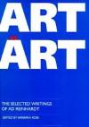 Art as Art: The Selected Writings - Barbara Rose, Barbara Rose