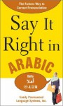 Say It Right in Arabic - Clyde Peters