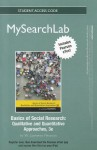 Mysearchlab with Pearson Etext -- Standalone Access Card -- Forbasics of Social Research: Qualitative and Quantitative Approaches - W. Lawrence Neuman