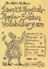 English-Anglo-Saxon Vocabulary - Walter W. Skeat