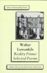 Reality Prime: Selected Poems - Walter Lowenfels, Joel Lewis