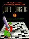Quote Acrostic 1 - Charles Preston