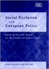Social Exclusion and European Policy - David G. Mayes