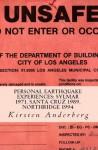 PERSONAL EARTHQUAKE EXPERIENCES: Sylmar 1971, Santa Cruz 1989, Northridge 1994 - Kirsten Anderberg