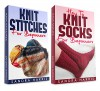 "(2 Book Bundle) ""Knitting Stitches Dictionary For Beginners"" & ""How To Knit Socks For Beginners"" (Knitting For Beginners) - Sandra Harris"