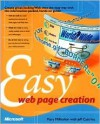 Easy Web Page Creation - Mary Millhollon, Jeff Castrina