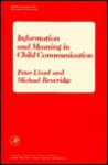 Information & Meaning in Child Communication - Peter Lloyd